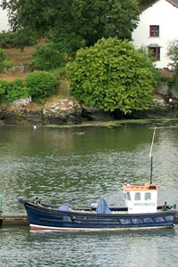 Boats on Truro River at Malpas